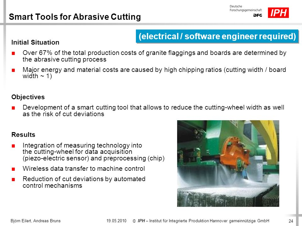 Smart Tools for Abrasive Cutting