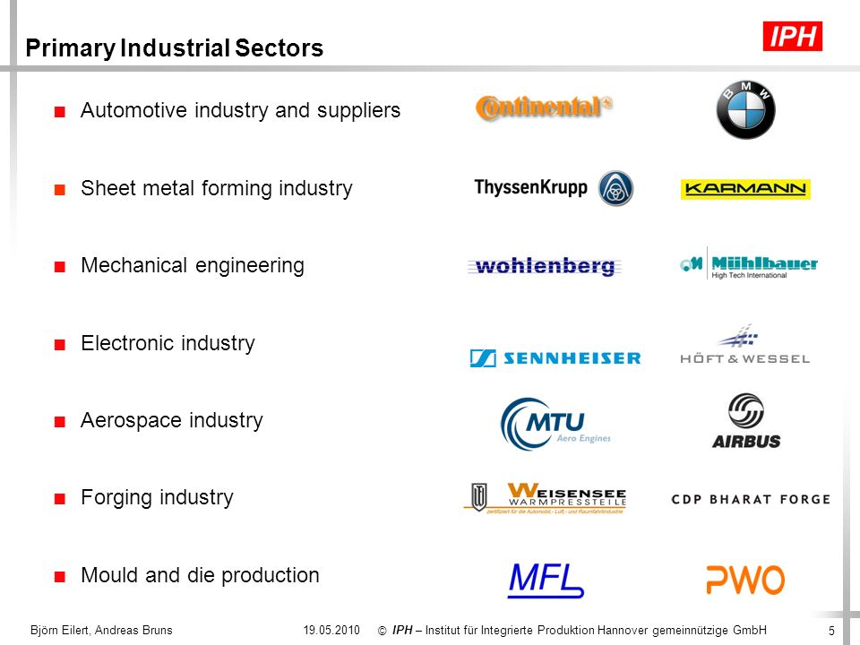 Primary Industrial Sectors