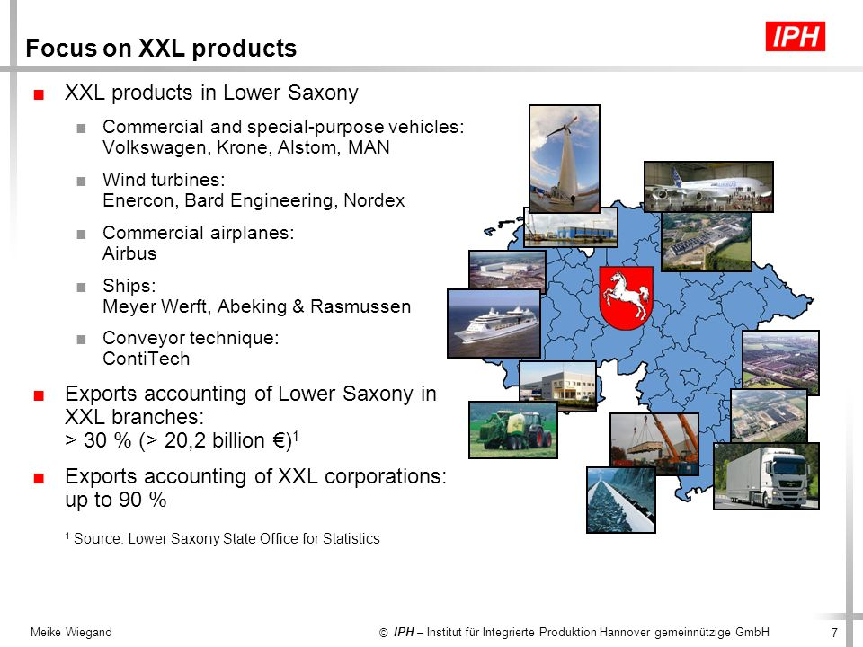 Focus on XXL products XXL products in Lower Saxony