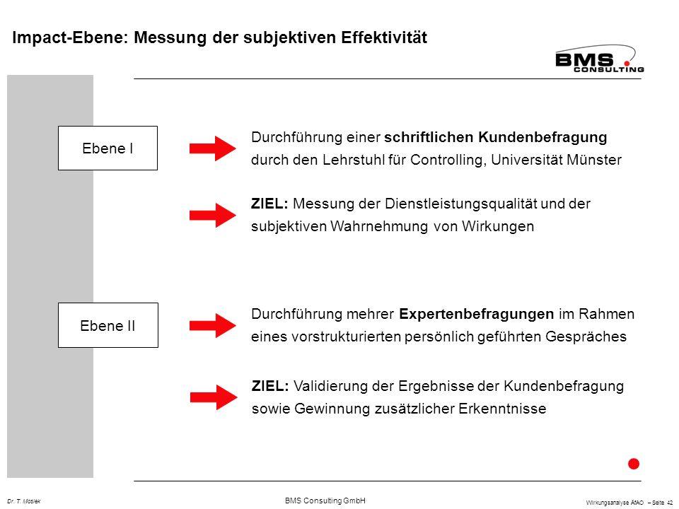 Impact-Ebene: Messung der subjektiven Effektivität