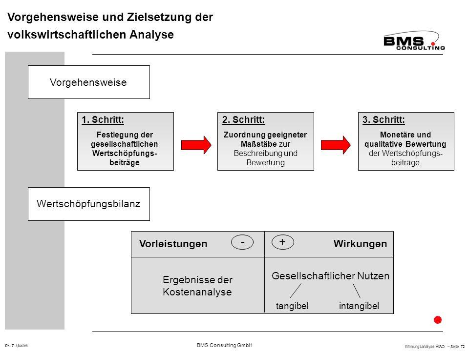 Vorgehensweise und Zielsetzung der volkswirtschaftlichen Analyse