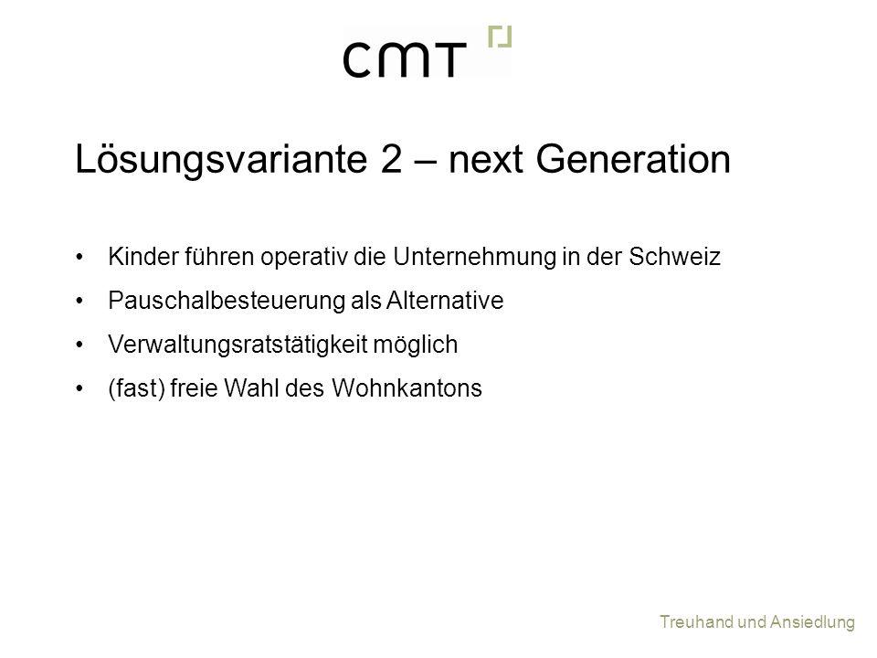Lösungsvariante 2 – next Generation