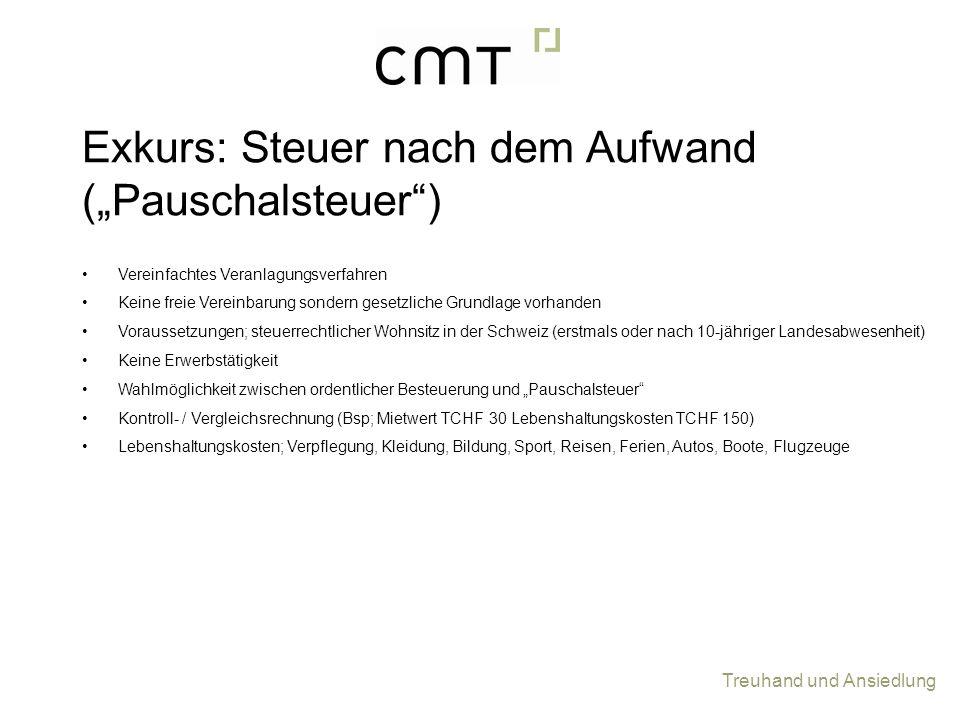 "Exkurs: Steuer nach dem Aufwand (""Pauschalsteuer )"