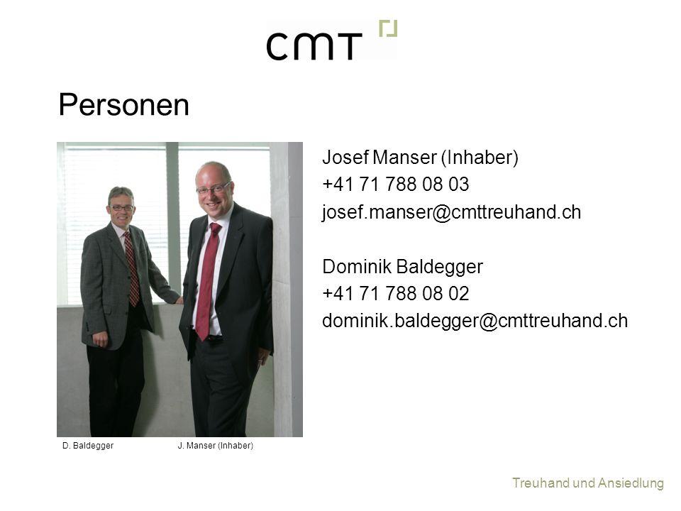 Personen Josef Manser (Inhaber) +41 71 788 08 03