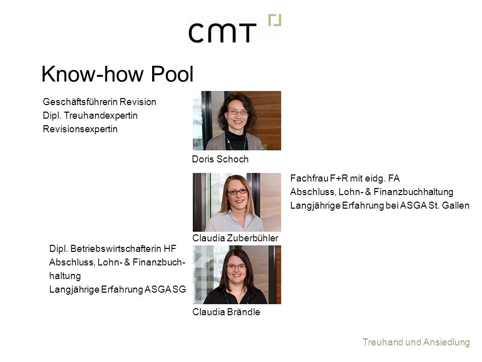 Know-how Pool Geschäftsführerin Revision Dipl. Treuhandexpertin