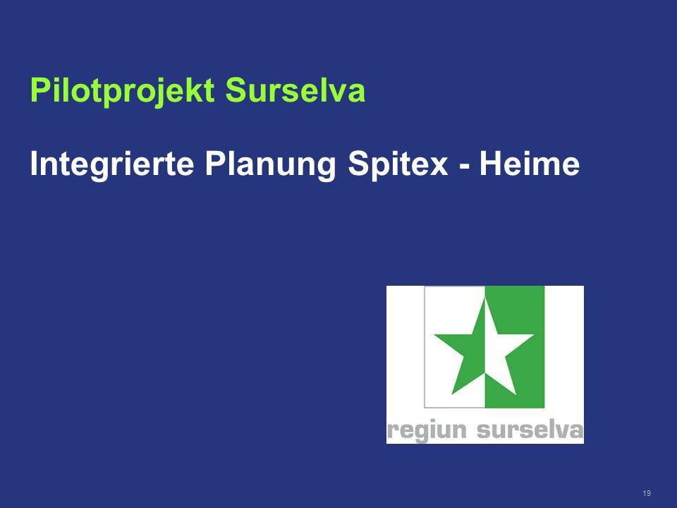 Pilotprojekt Surselva Integrierte Planung Spitex - Heime