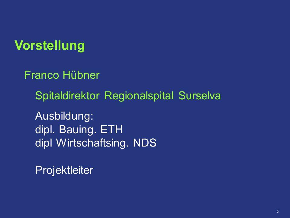 Vorstellung Franco Hübner Spitaldirektor Regionalspital Surselva