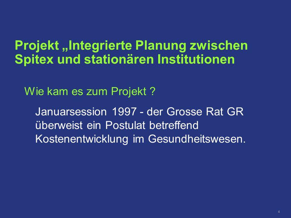 """Projekt """"Integrierte Planung zwischen Spitex und stationären Institutionen"""