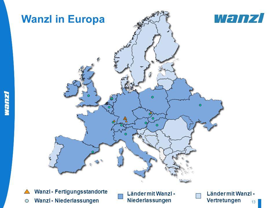 Wanzl in Europa Wanzl - Fertigungsstandorte