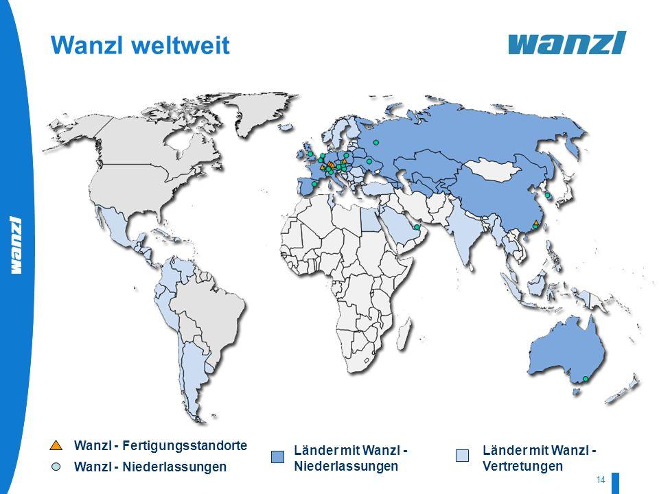 Wanzl weltweit Wanzl - Fertigungsstandorte