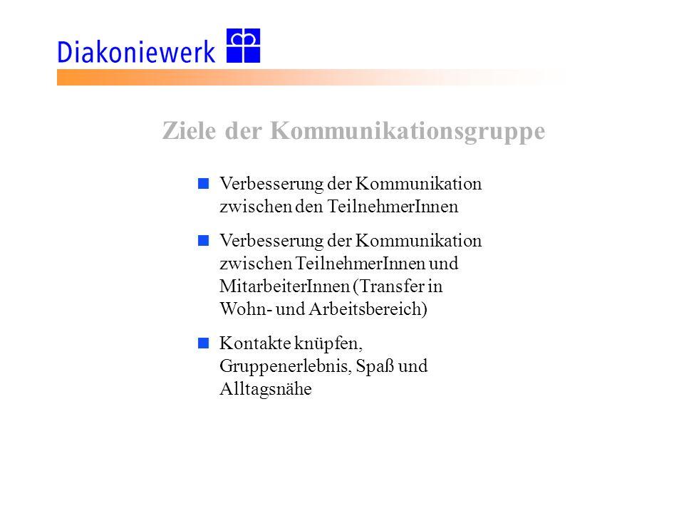 Ziele der Kommunikationsgruppe