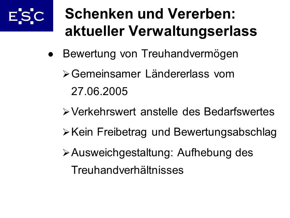 Schenken und Vererben: aktueller Verwaltungserlass
