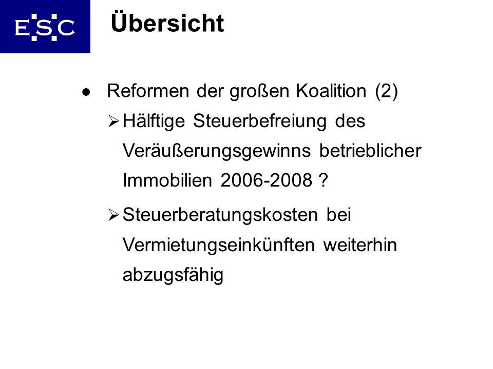 Übersicht Reformen der großen Koalition (2)