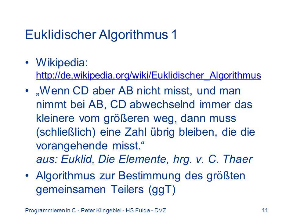 Euklidischer Algorithmus 1