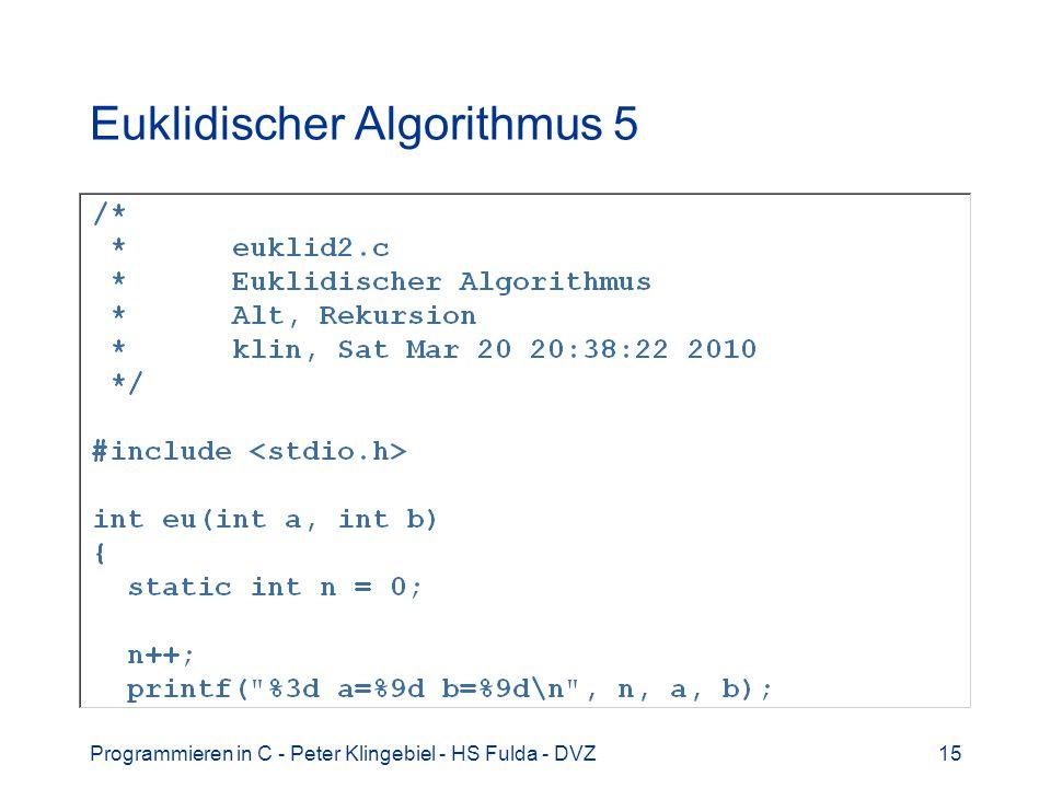 Euklidischer Algorithmus 5