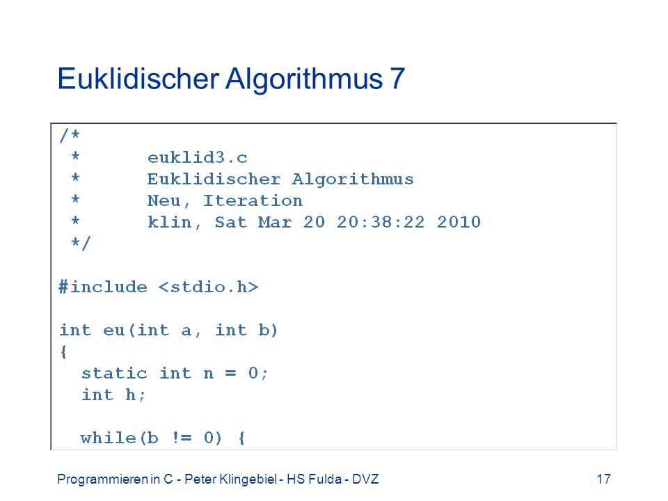 Euklidischer Algorithmus 7