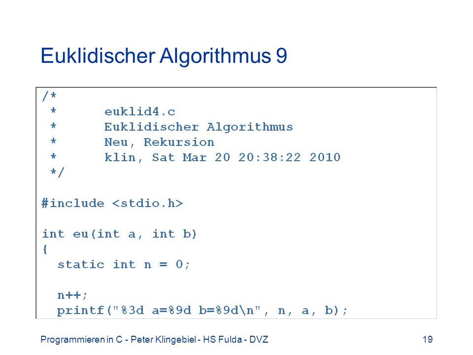 Euklidischer Algorithmus 9