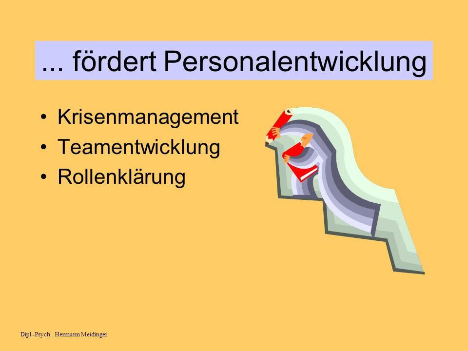 ... fördert Personalentwicklung