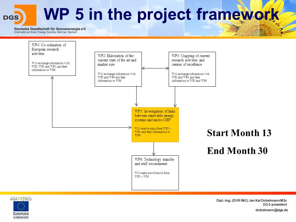 WP 5 in the project framework