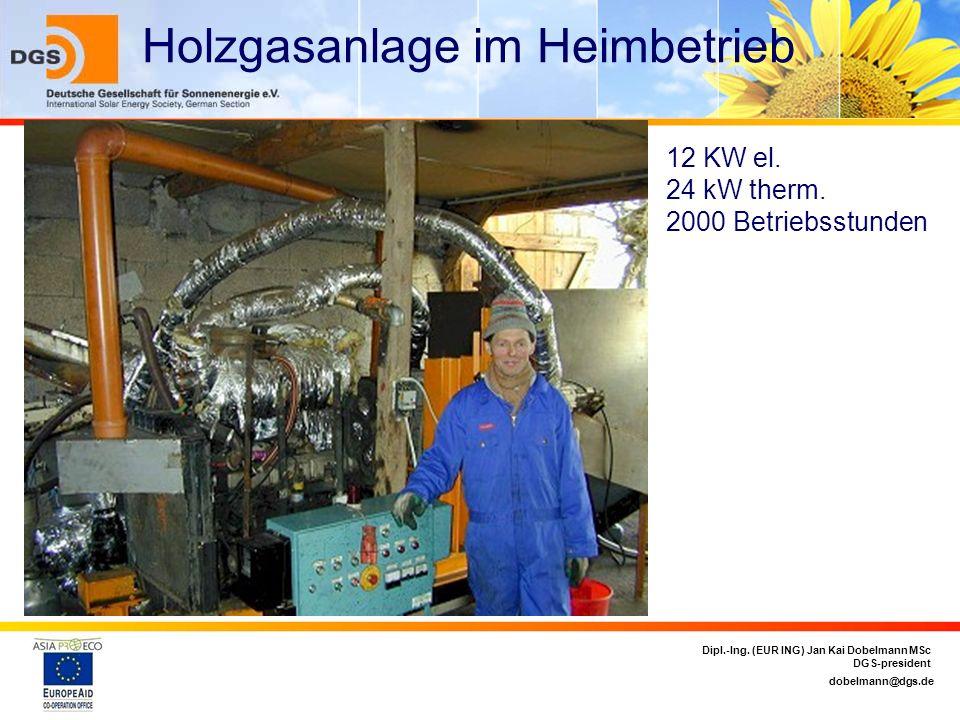 Holzgasanlage im Heimbetrieb