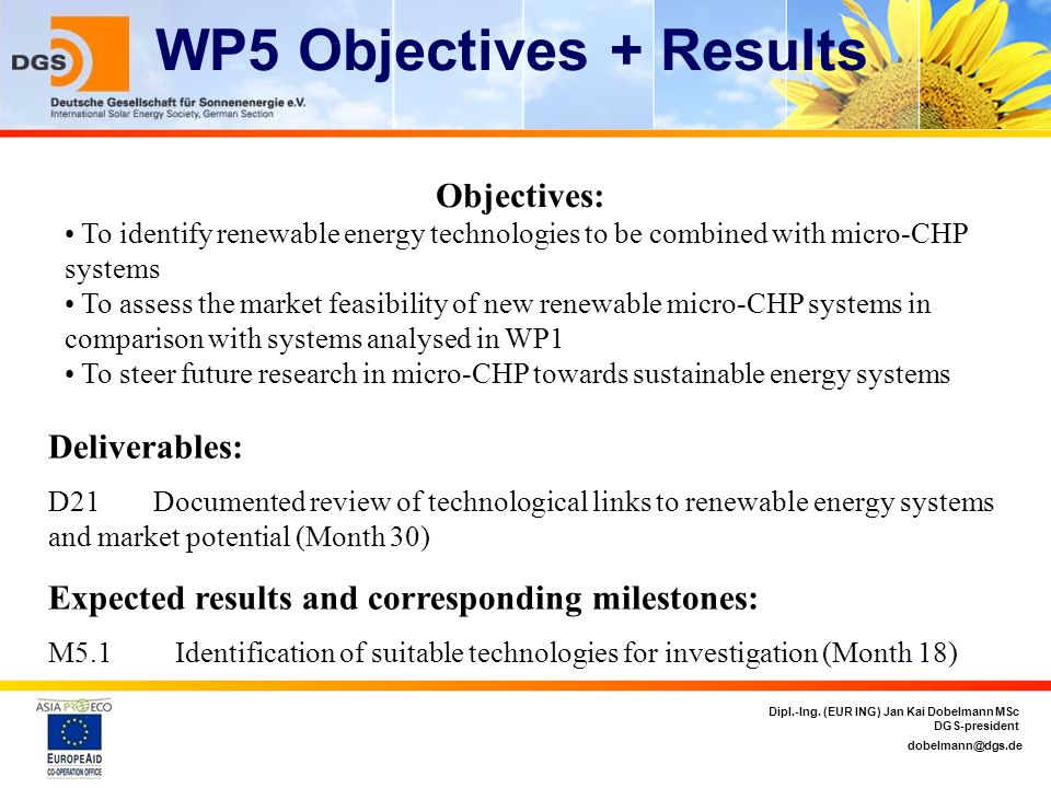 WP5 Objectives + Results