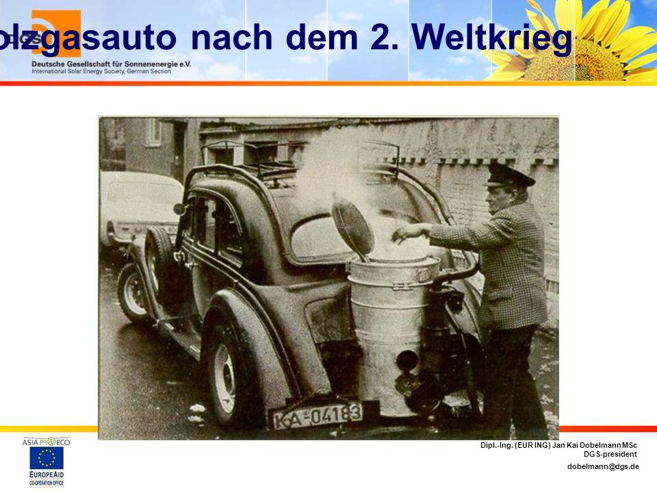 Holzgasauto nach dem 2. Weltkrieg