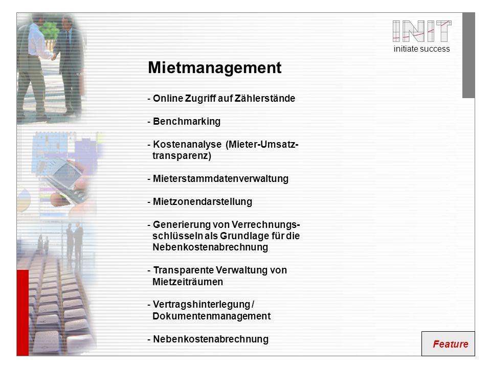 Mietmanagement Online Zugriff auf Zählerstände Benchmarking