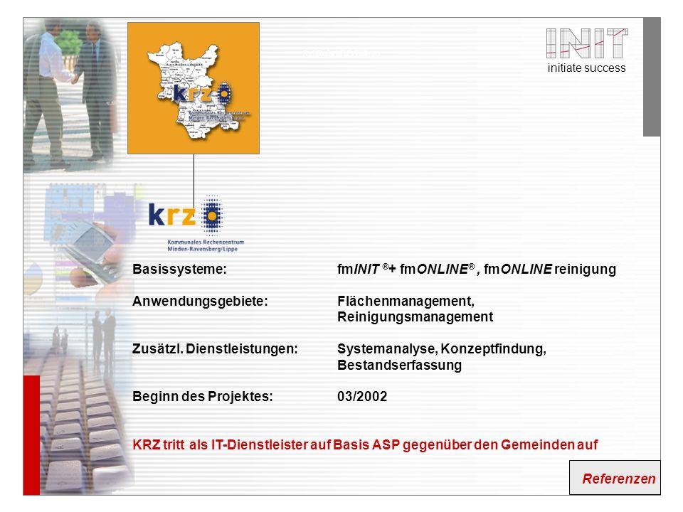 Basissysteme: fmINIT ®+ fmONLINE® , fmONLINE reinigung