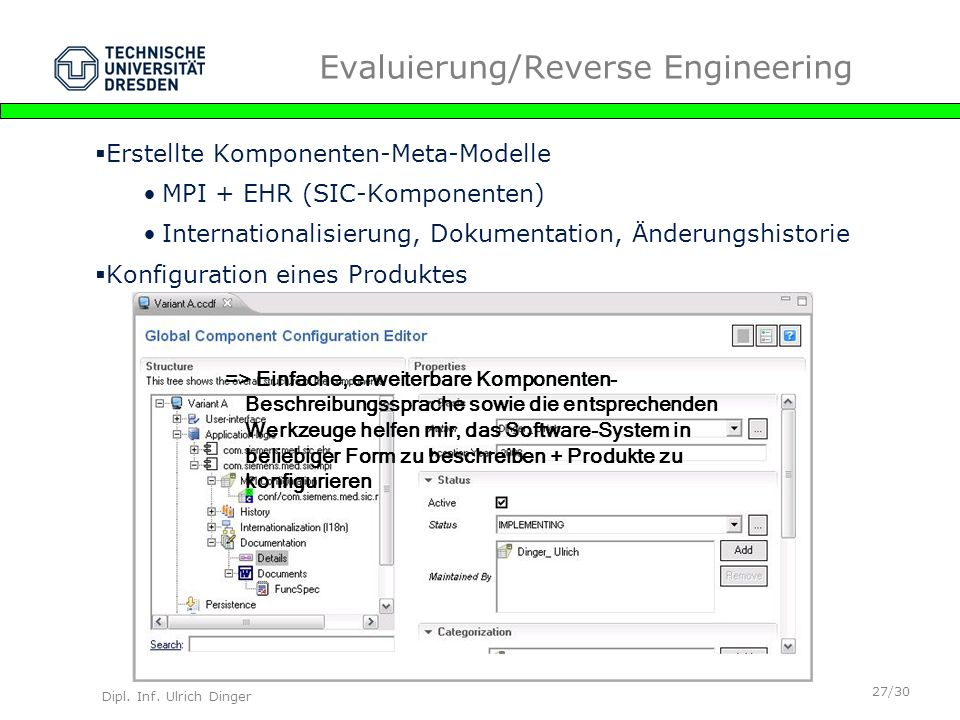 Evaluierung/Reverse Engineering