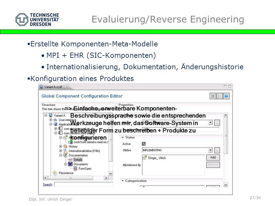 Evaluierung/Reverse Engineering