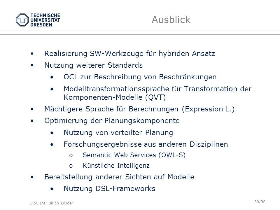 Ausblick Realisierung SW-Werkzeuge für hybriden Ansatz