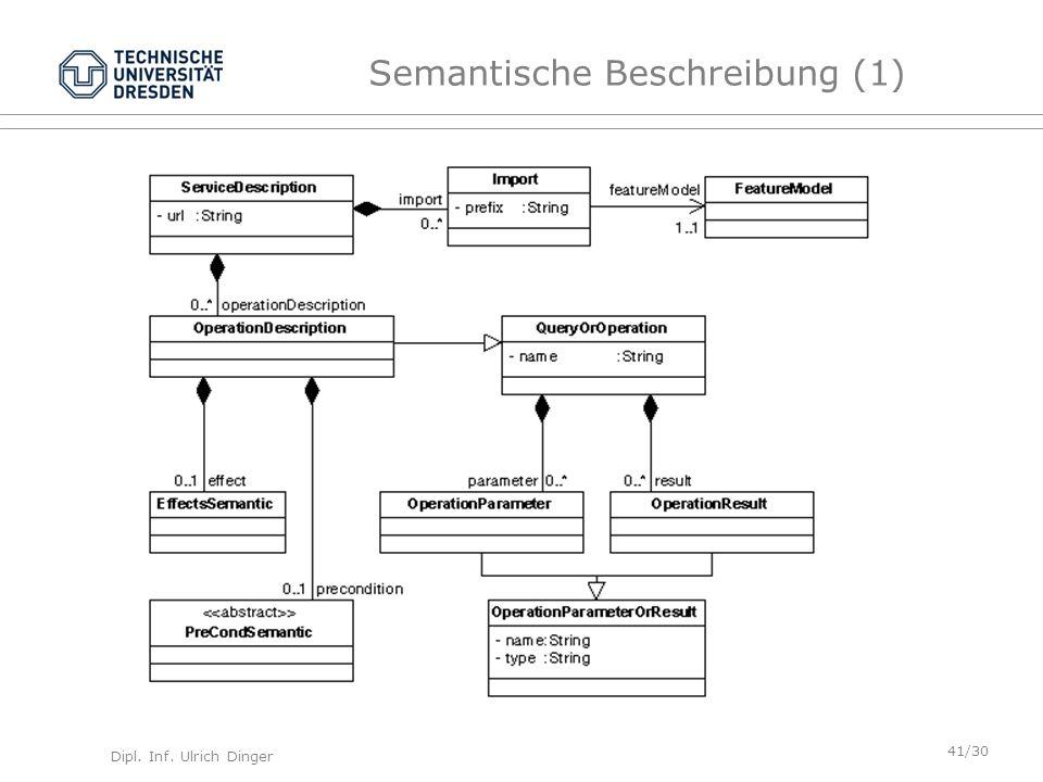 Semantische Beschreibung (1)