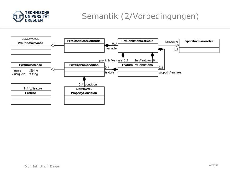 Semantik (2/Vorbedingungen)