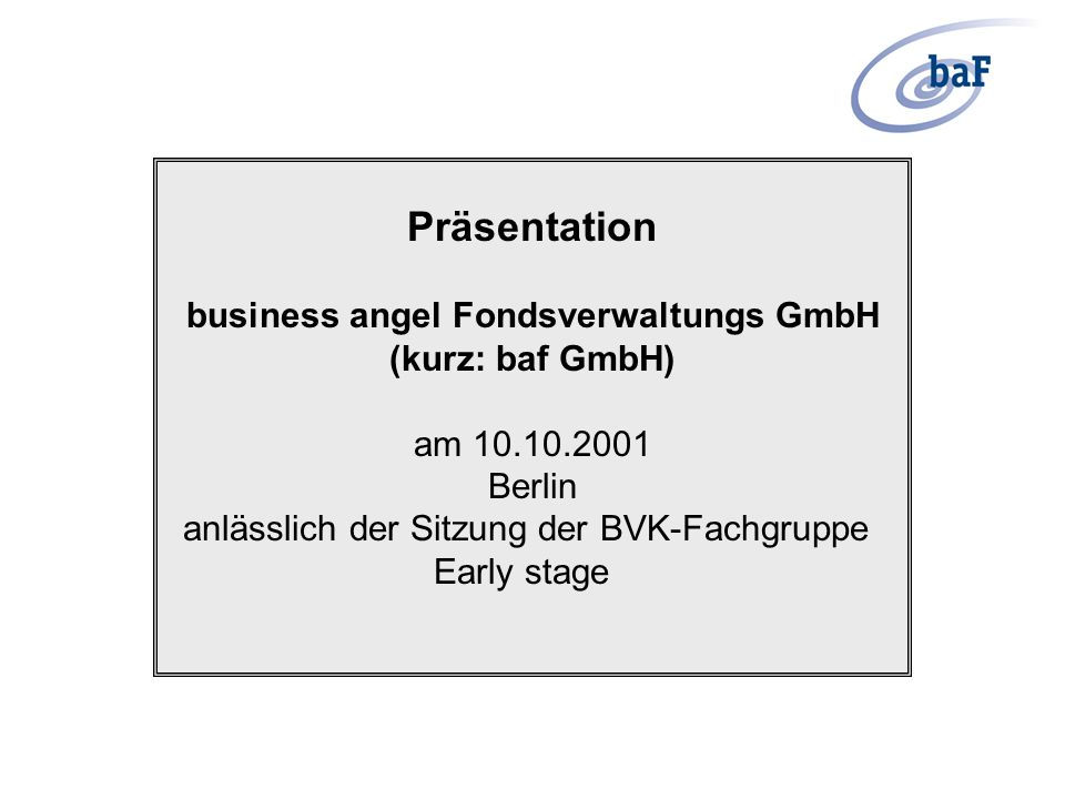 business angel Fondsverwaltungs GmbH