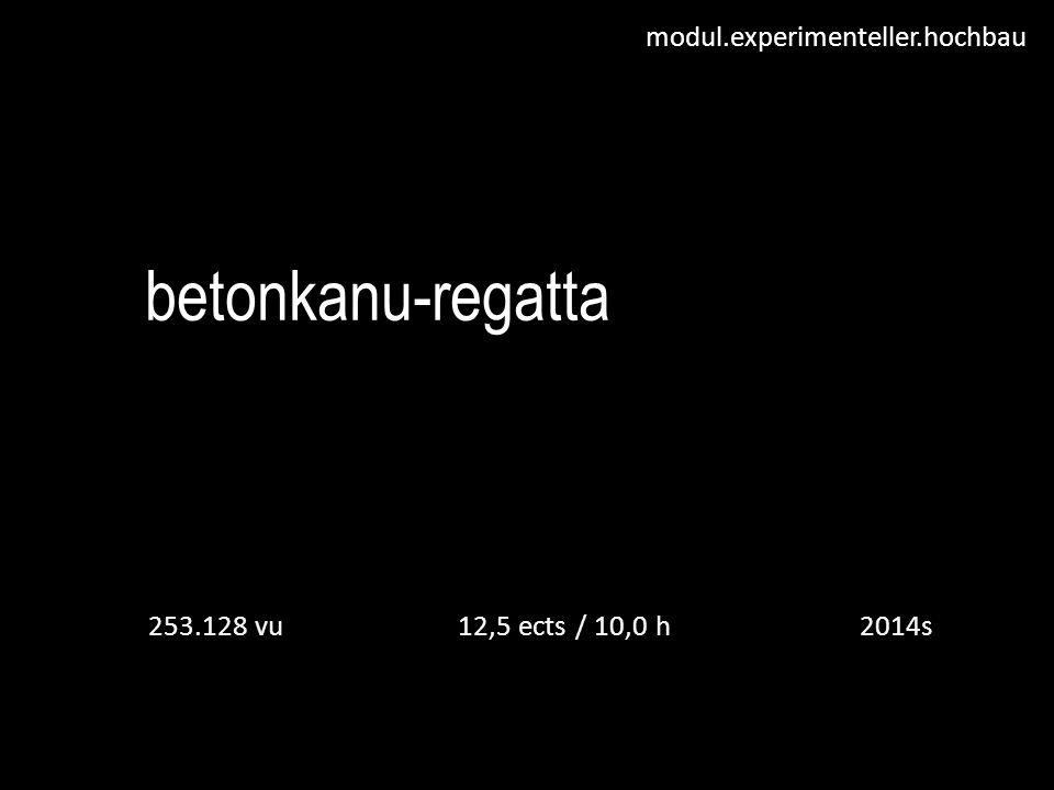 betonkanu-regatta 253.128 vu 12,5 ects / 10,0 h 2014s