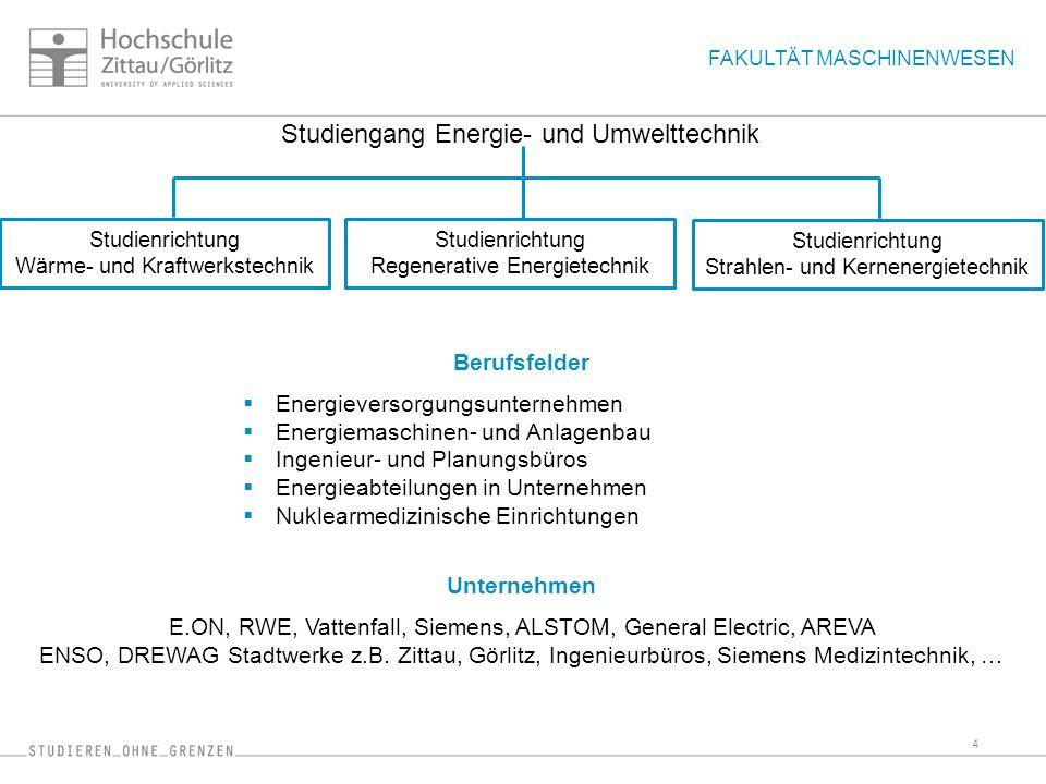 Studiengang Energie- und Umwelttechnik