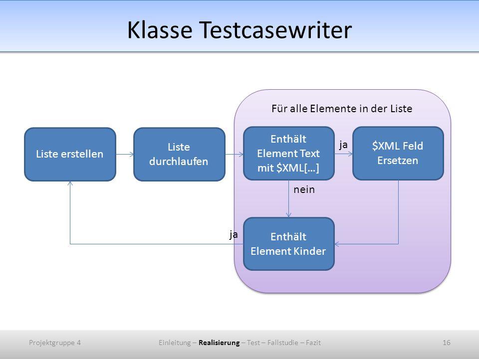 Klasse Testcasewriter