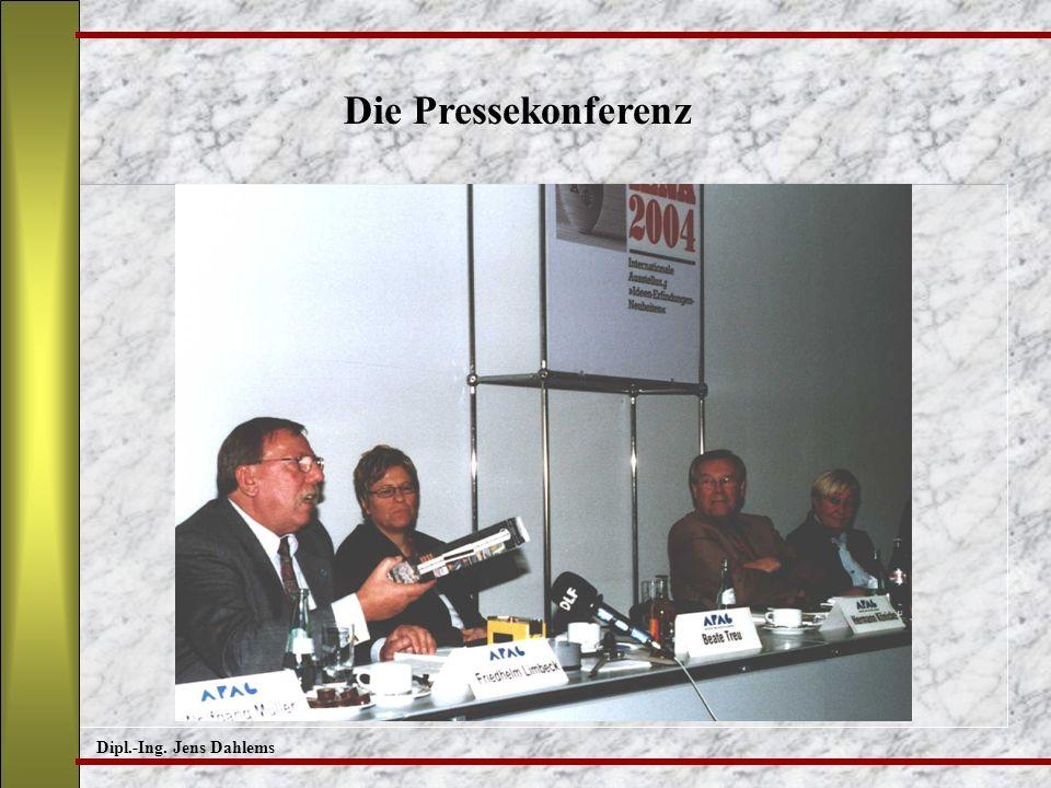 Die Pressekonferenz Dipl.-Ing. Jens Dahlems