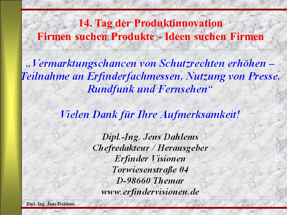 14. Tag der Produktinnovation