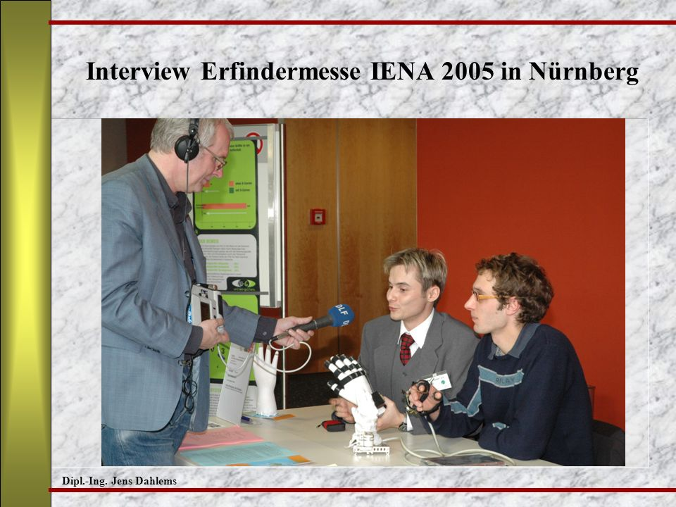 Interview Erfindermesse IENA 2005 in Nürnberg