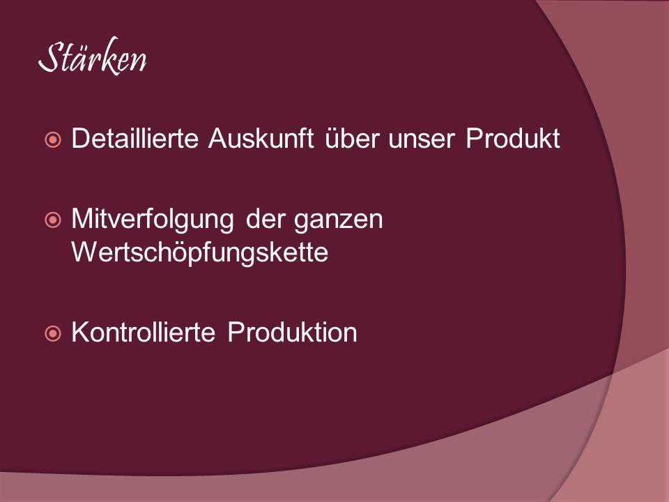 Stärken Detaillierte Auskunft über unser Produkt