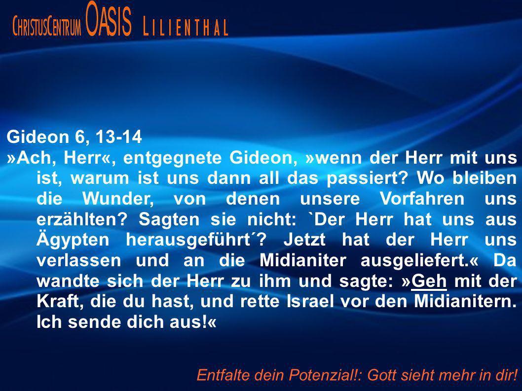Gideon 6, 13-14