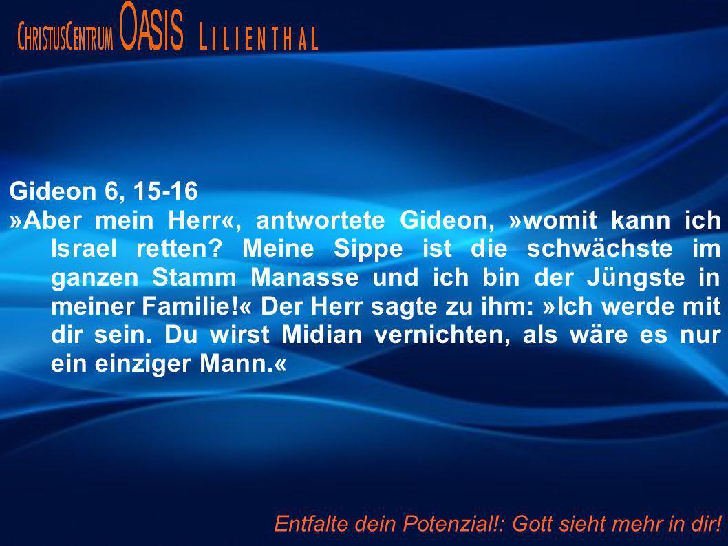 Gideon 6, 15-16