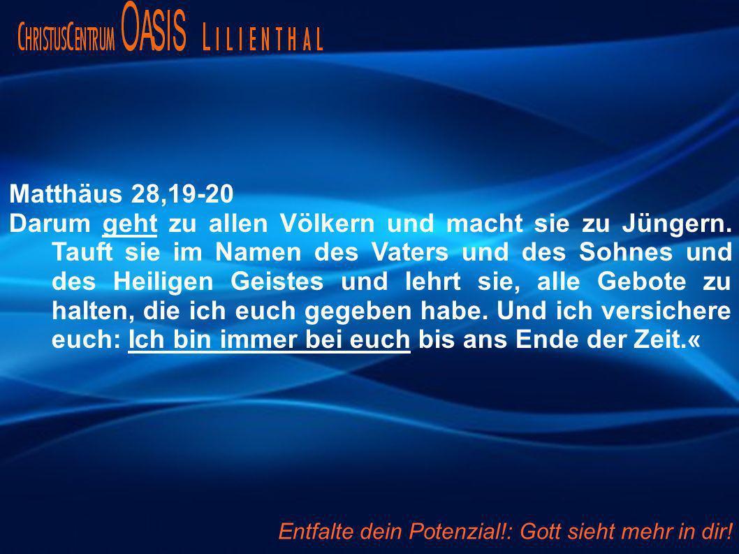 Matthäus 28,19-20