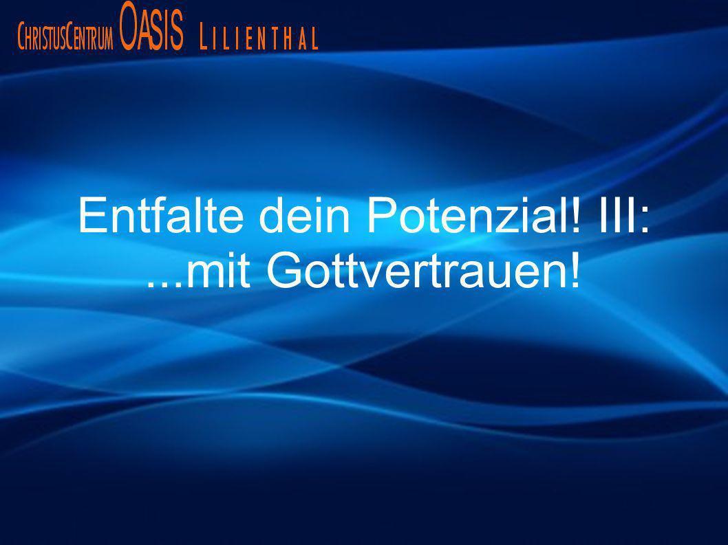 Entfalte dein Potenzial! III: