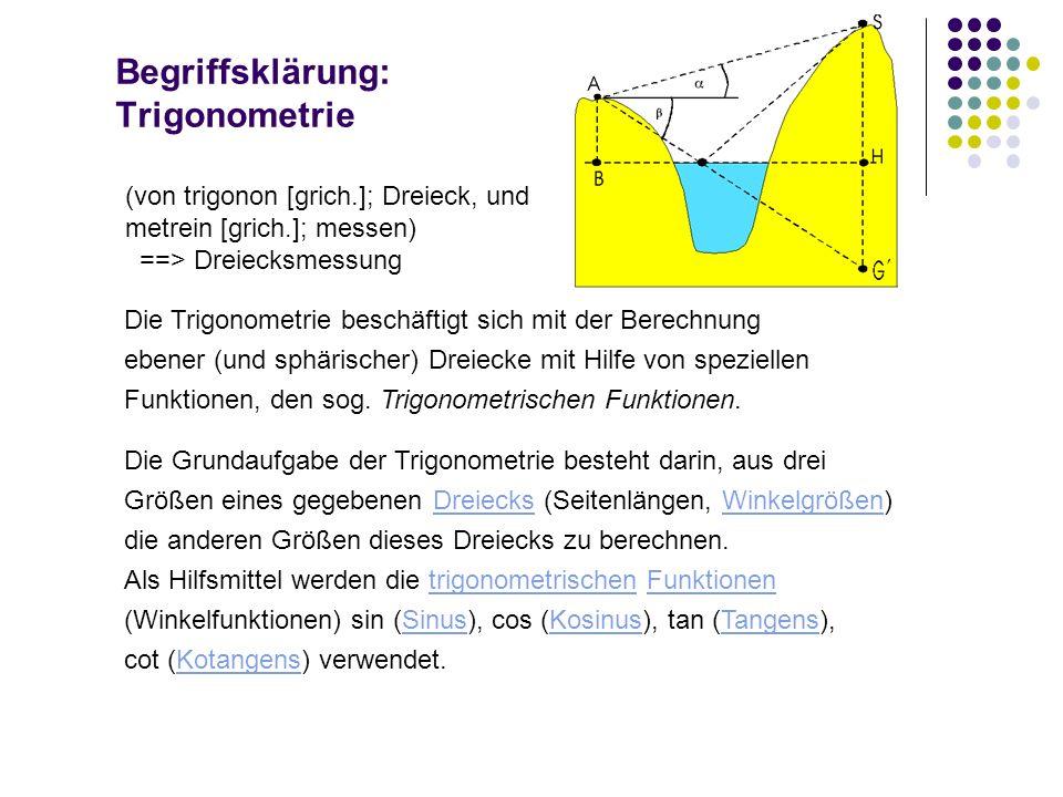 Begriffsklärung: Trigonometrie