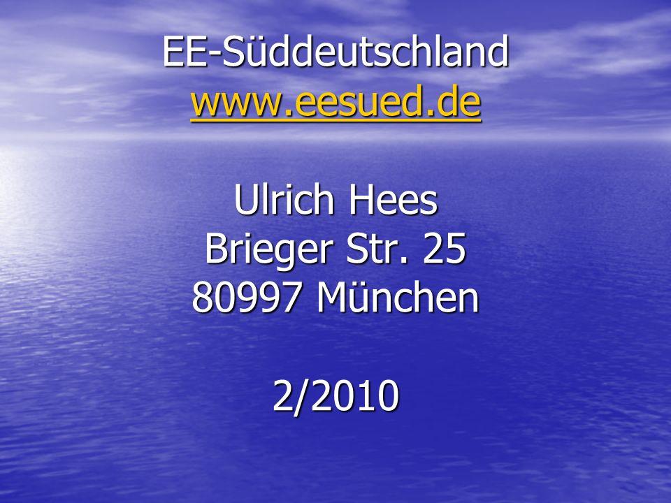 EE-Süddeutschland www. eesued. de Ulrich Hees Brieger Str