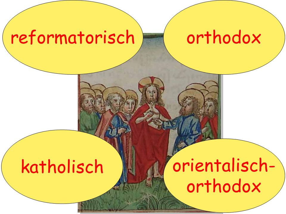 reformatorisch orthodox katholisch orientalisch- orthodox