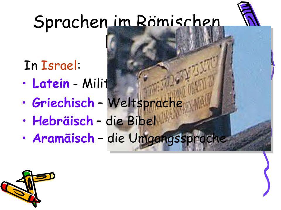 Sprachen im Römischen Reich