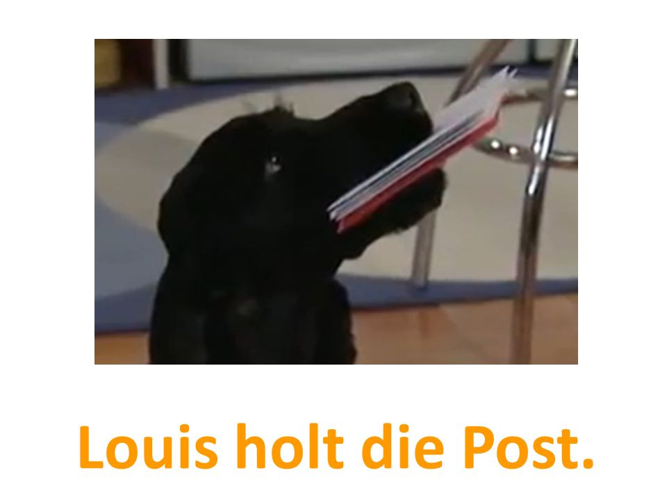 Louis holt die Post.